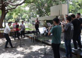 Música erudita lotou Praça Rui Barbosa, em Bauru/SP