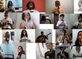 Orquestra Virtual de crianças reúne alunos para tocar Trem das Onze